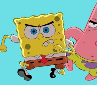Grumpy Spongebob - Obrázkek zdarma pro 208x208