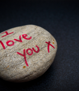 I Love You Written On Stone - Obrázkek zdarma pro Nokia Asha 308