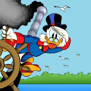DuckTales, richest duck Scrooge McDuck - Obrázkek zdarma pro 320x320