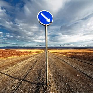 Blue Road Sign - Obrázkek zdarma pro iPad mini