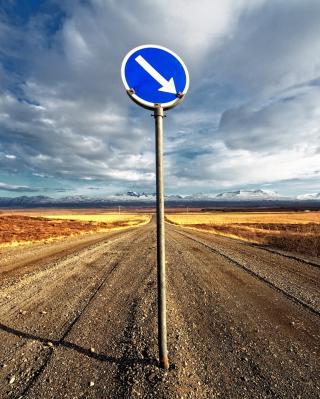 Blue Road Sign - Obrázkek zdarma pro 320x480