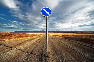 Blue Road Sign - Obrázkek zdarma pro Samsung Galaxy Tab 3 8.0