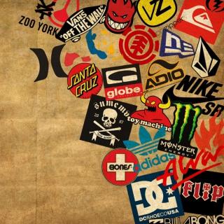 Skateboard Logos - Obrázkek zdarma pro iPad 2