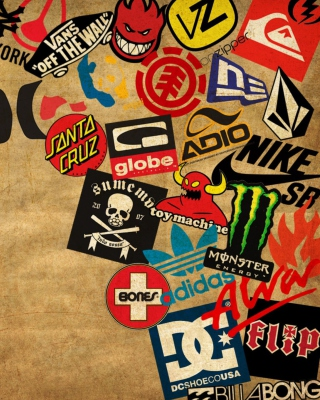 Skateboard Logos - Obrázkek zdarma pro 750x1334