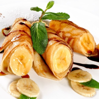 Sweet banana dish - Obrázkek zdarma pro 1024x1024