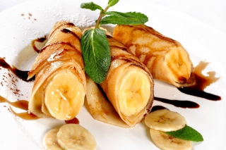 Sweet banana dish - Obrázkek zdarma pro Nokia Asha 201