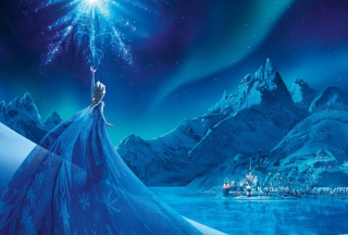 Frozen Elsa Snow Queen Palace Background for Android, iPhone and iPad