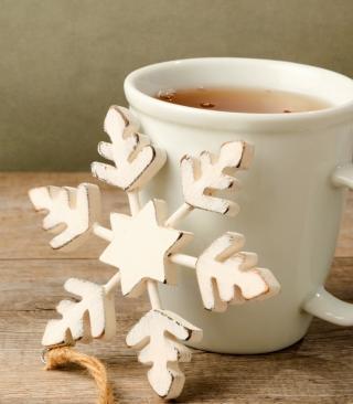 White Wooden Snowflake - Obrázkek zdarma pro Nokia Asha 305