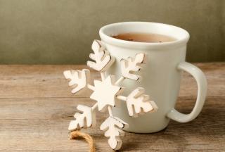 White Wooden Snowflake - Obrázkek zdarma pro Desktop Netbook 1024x600