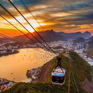 Copacabana Sugar Loaf Funicular, Rio de Janeiro - Obrázkek zdarma pro 208x208
