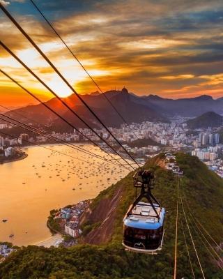Copacabana Sugar Loaf Funicular, Rio de Janeiro - Obrázkek zdarma pro Nokia C2-03
