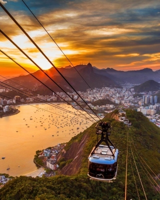 Copacabana Sugar Loaf Funicular, Rio de Janeiro - Obrázkek zdarma pro Nokia Lumia 2520