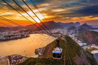 Copacabana Sugar Loaf Funicular, Rio de Janeiro - Obrázkek zdarma pro Widescreen Desktop PC 1440x900
