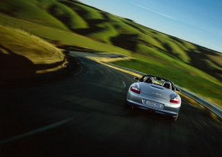 Porsche Boxter Highway Wallpaper for Android, iPhone and iPad