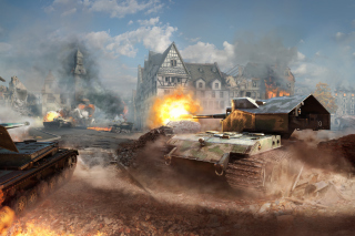 World of tanks, Waffentrager auf E 100 Wallpaper for Android, iPhone and iPad