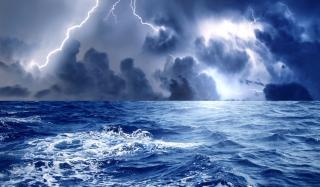 Storm And Blue Sea - Fondos de pantalla gratis para Samsung S5367 Galaxy Y TV