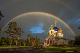 The Church of St. Igor of Chernigov in Peredelkino - Obrázkek zdarma pro Widescreen Desktop PC 1280x800