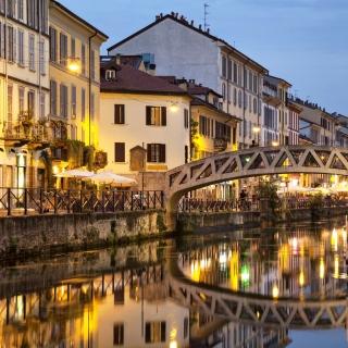 Milan Canal Navigli District - Obrázkek zdarma pro 128x128