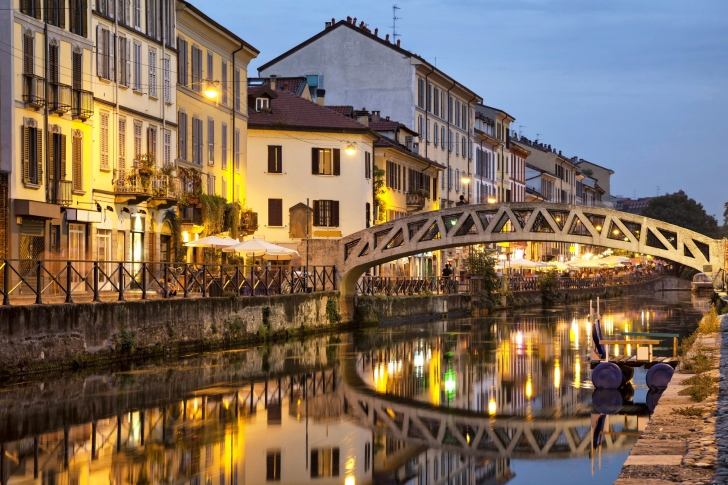 Milan Canal Navigli District wallpaper