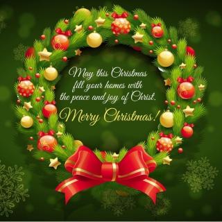 Merry Christmas 25 December SMS Wish - Obrázkek zdarma pro iPad 2
