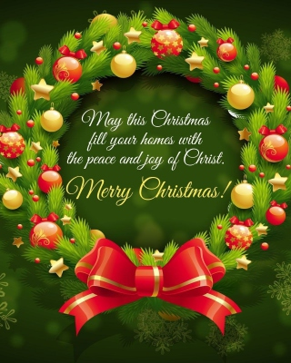 Merry Christmas 25 December SMS Wish - Obrázkek zdarma pro 132x176