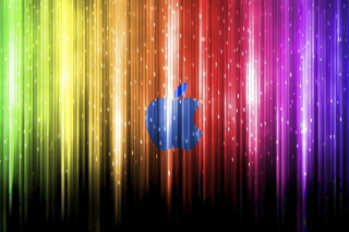 Sparkling Apple Logo Background for Android, iPhone and iPad