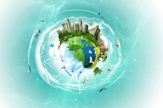 Free Planet Earth Fantasy Picture for Android, iPhone and iPad