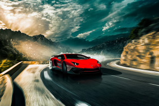 2016 Lamborghini Aventador SV LP750 4 Background for Android, iPhone and iPad