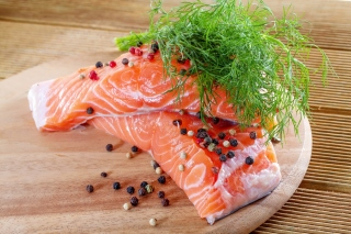 Salmon Dish Background for Android, iPhone and iPad