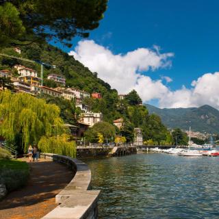 Bellagio Lake Como Promenade - Obrázkek zdarma pro iPad 2