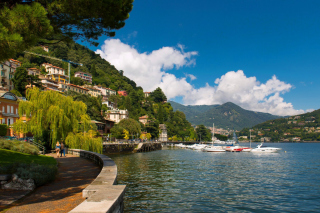 Bellagio Lake Como Promenade Background for Android, iPhone and iPad