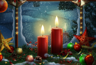 Lighted Candles Background for Android, iPhone and iPad