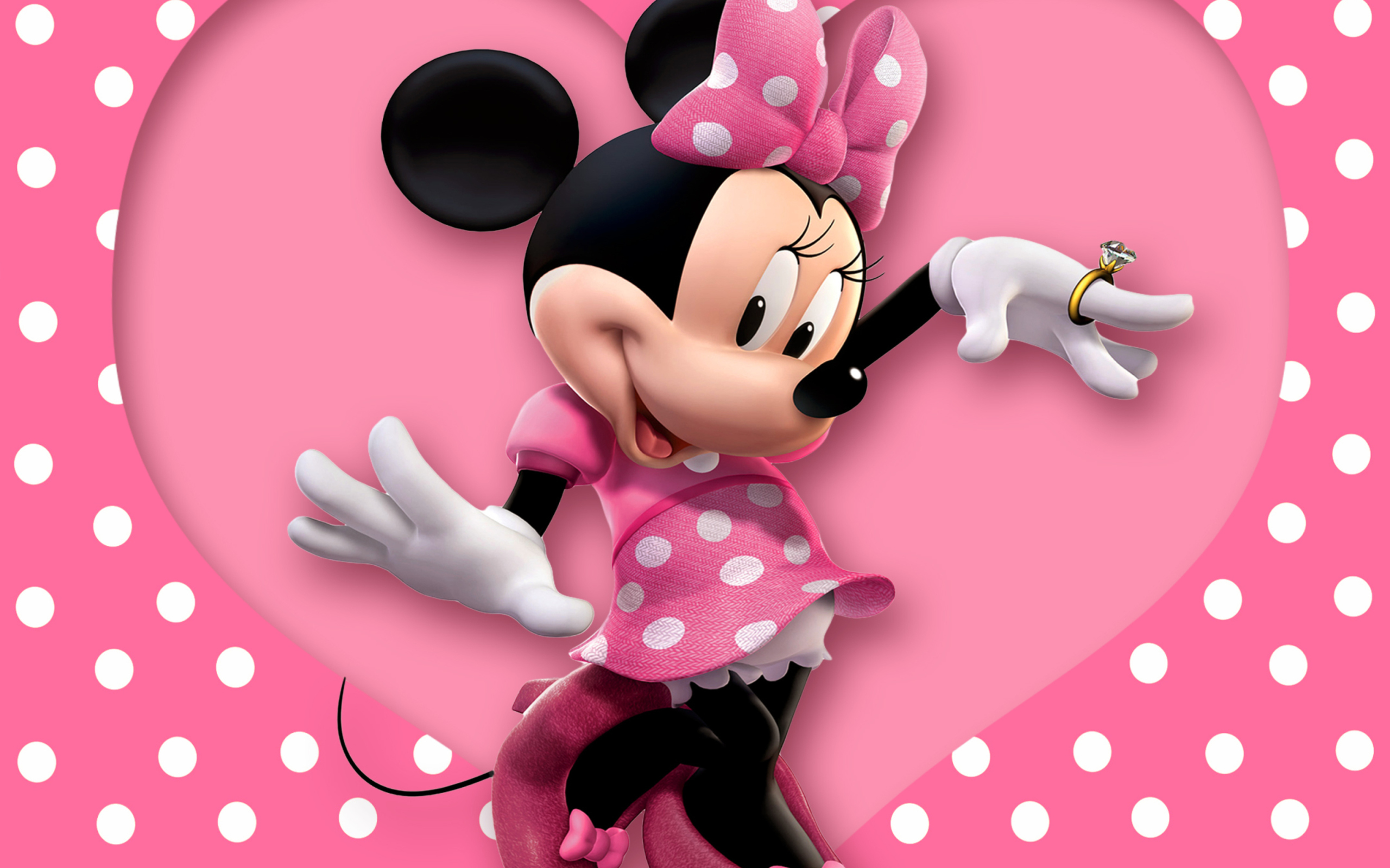 minnie mouse polka dot wallpaper for android 2560x1600