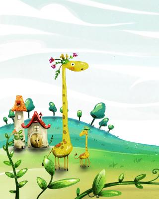 Vector Spring Giraffes - Obrázkek zdarma pro Nokia Lumia 620
