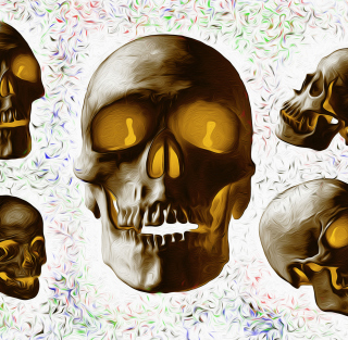 Golden Bones - Obrázkek zdarma pro iPad Air