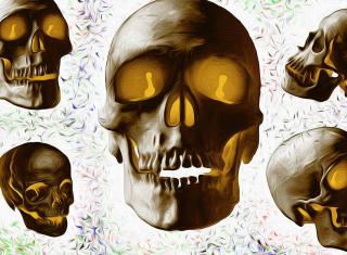 Golden Bones - Obrázkek zdarma pro HTC One