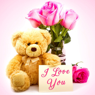Valentines Day, Teddy Bear - Obrázkek zdarma pro 208x208