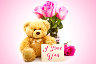 Free Valentines Day, Teddy Bear Picture for Android, iPhone and iPad