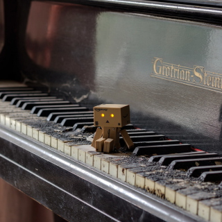 Danbo Pianist - Obrázkek zdarma pro iPad Air