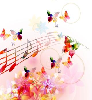 Rainbow Music - Obrázkek zdarma pro 128x128