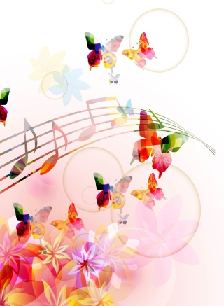 Rainbow Music - Obrázkek zdarma pro Nokia C1-00