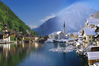 Hallstatt in Austria Wallpaper for Android, iPhone and iPad