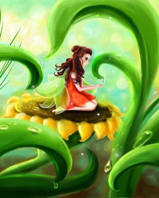 Fairy Girl - Obrázkek zdarma pro iPhone 4S