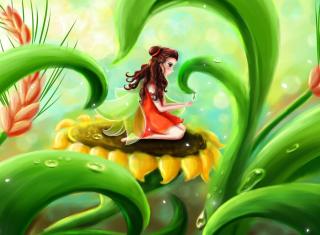 Fairy Girl - Obrázkek zdarma pro HTC Desire HD