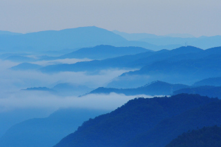 Blue Mountainscape Wallpaper for Android, iPhone and iPad