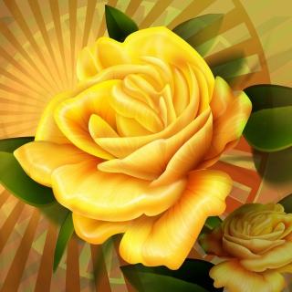 Two yellow flowers - Obrázkek zdarma pro 208x208