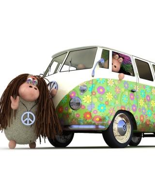 Hippies Sheeps - Obrázkek zdarma pro iPhone 4