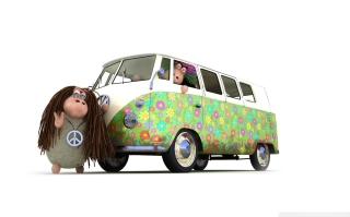Hippies Sheeps - Obrázkek zdarma pro Widescreen Desktop PC 1920x1080 Full HD