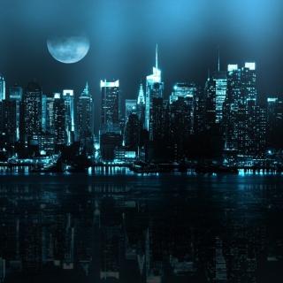City In Moonlight - Obrázkek zdarma pro 2048x2048