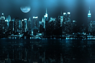 City In Moonlight - Obrázkek zdarma pro 960x800
